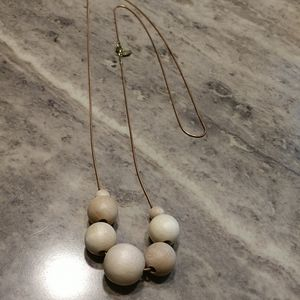 Amano studio jelwery wooden ball necklace